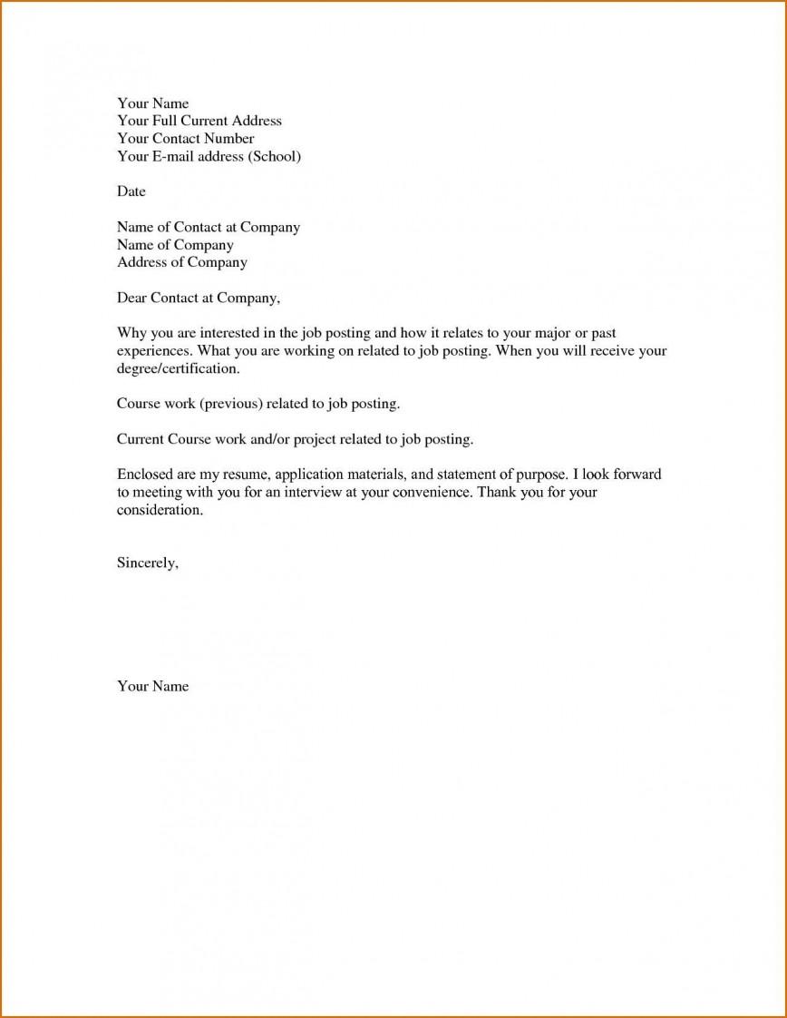 001 Striking Easy Cover Letter Template High Definition  Free Download Pdf Australia 2018 Basic Sample