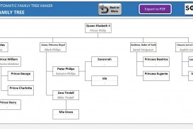 001 Striking Excel Family Tree Template Concept  10 Generation Download Free Editable