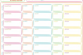 001 Striking Excel Weekly Meal Planner Template High Resolution  With Grocery List Downloadable