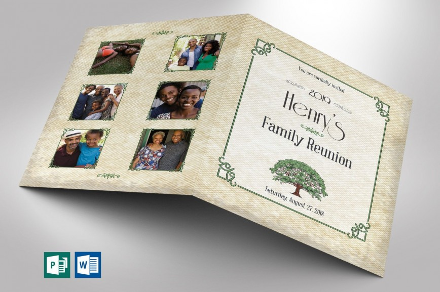 001 Striking Family Reunion Flyer Template Publisher Highest Clarity