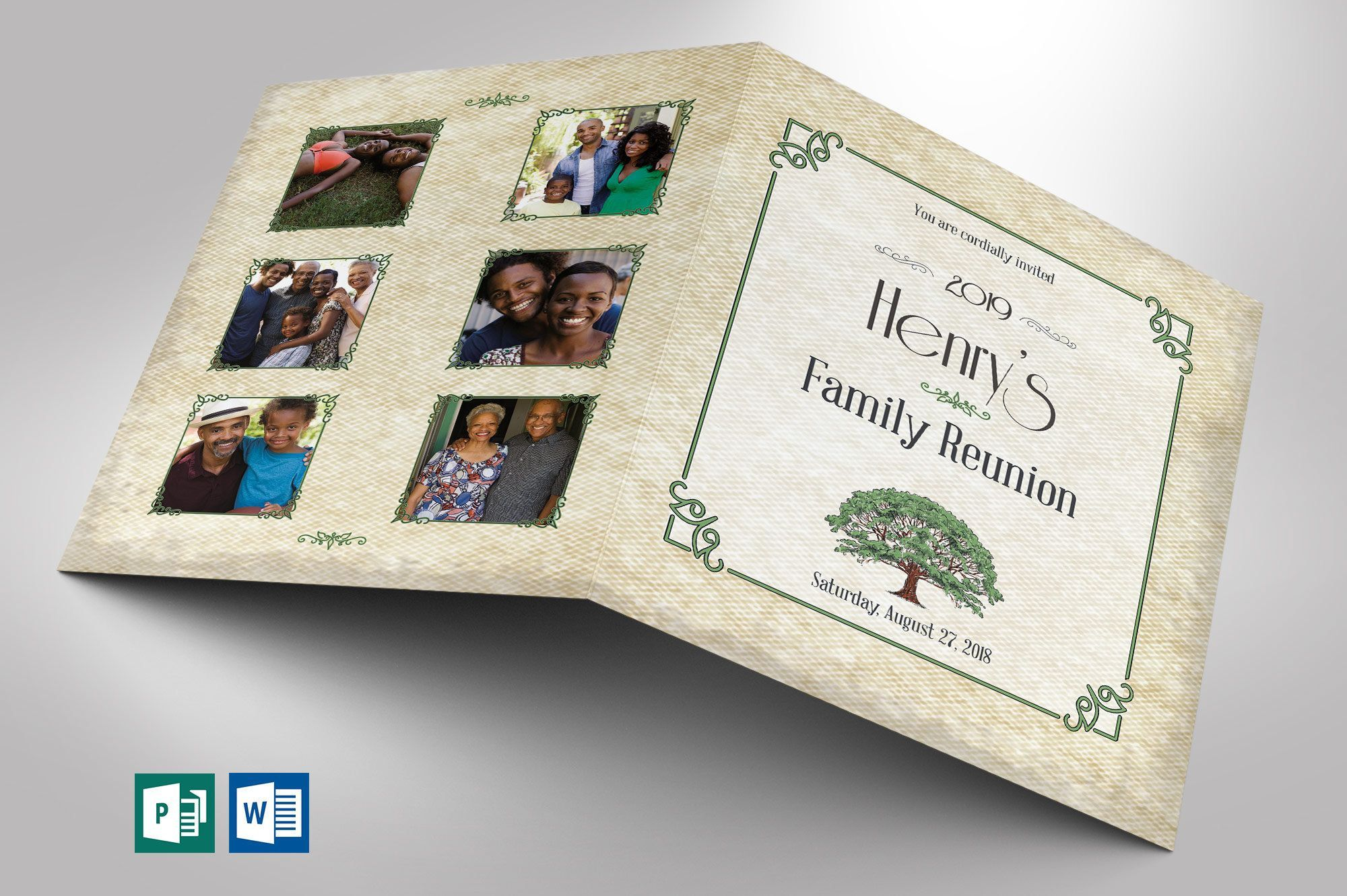 001 Striking Family Reunion Flyer Template Publisher Highest Clarity Full