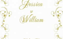 001 Striking Formal Wedding Invitation Template Free Image
