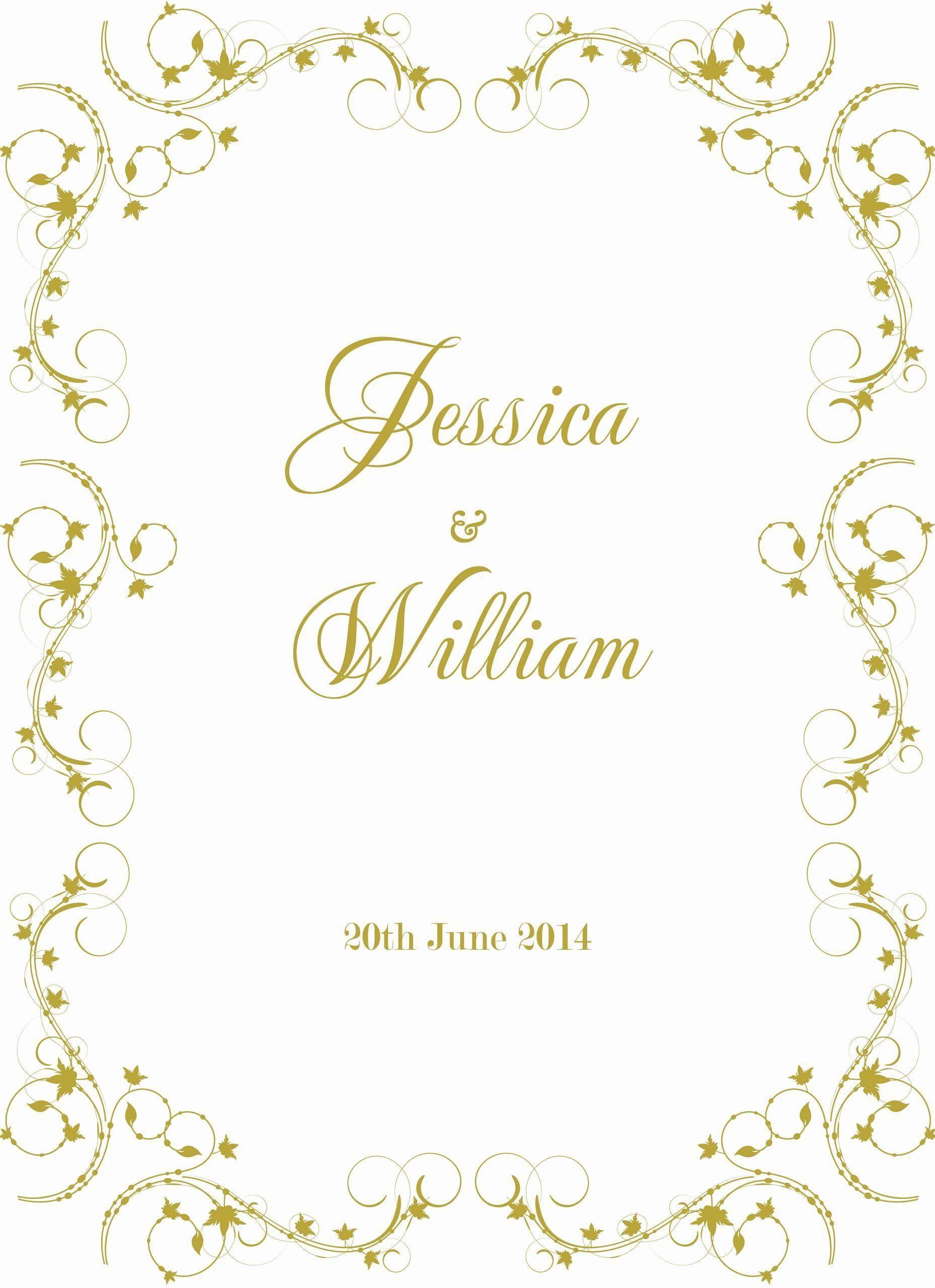001 Striking Formal Wedding Invitation Template Free Image Full