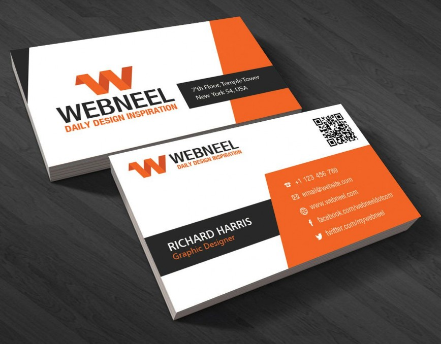 001 Striking Free Download Busines Card Template Sample  Blank Photoshop Psd File