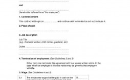 001 Striking Free Employment Contract Template Idea  Templates Bc Temporary South Africa Ireland