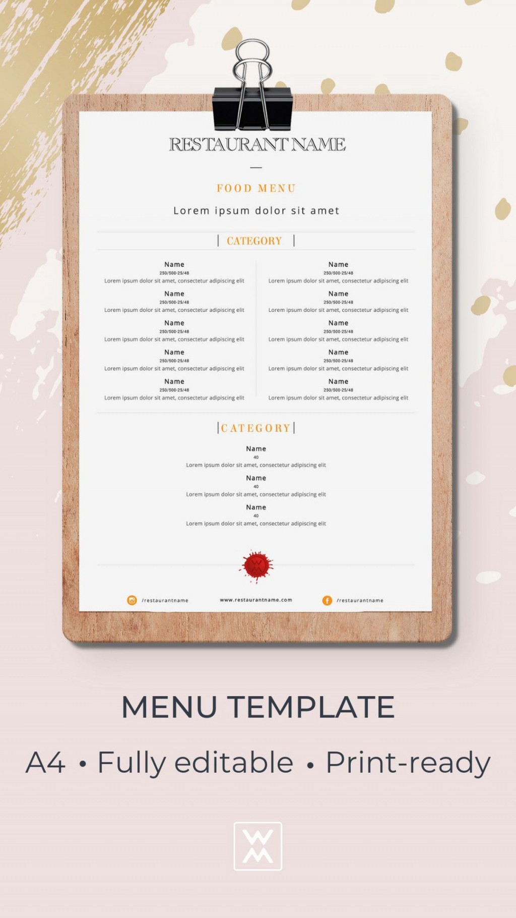001 Striking Free Online Wedding Menu Template Example  TemplatesLarge
