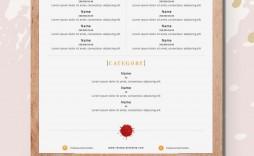 001 Striking Free Online Wedding Menu Template Example  Templates