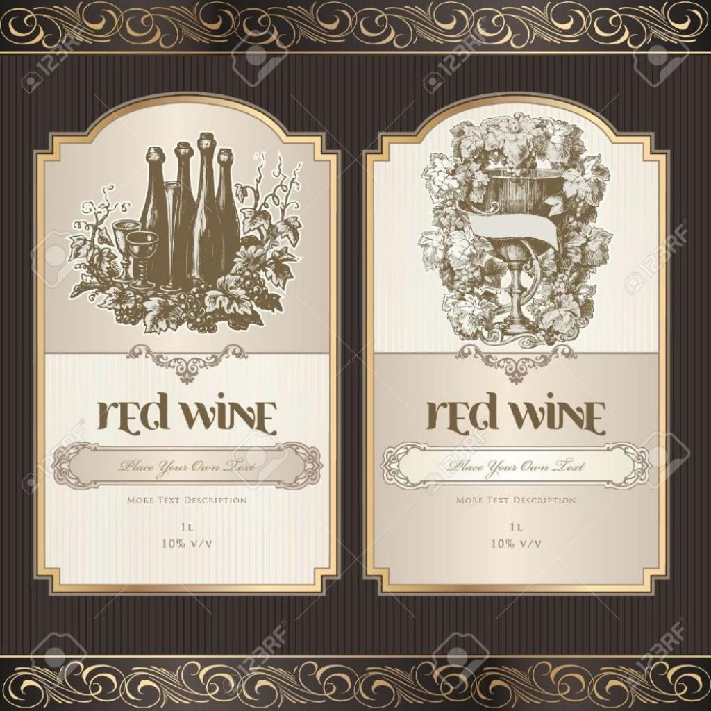 001 Striking Free Wine Bottle Label Template Idea  Mini PrintableLarge