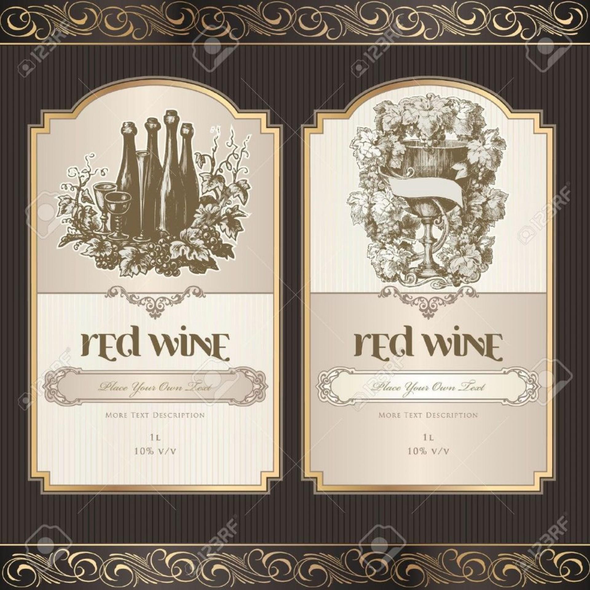 001 Striking Free Wine Bottle Label Template Idea  Mini Printable1920