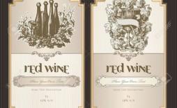 001 Striking Free Wine Bottle Label Template Idea  Mini Printable