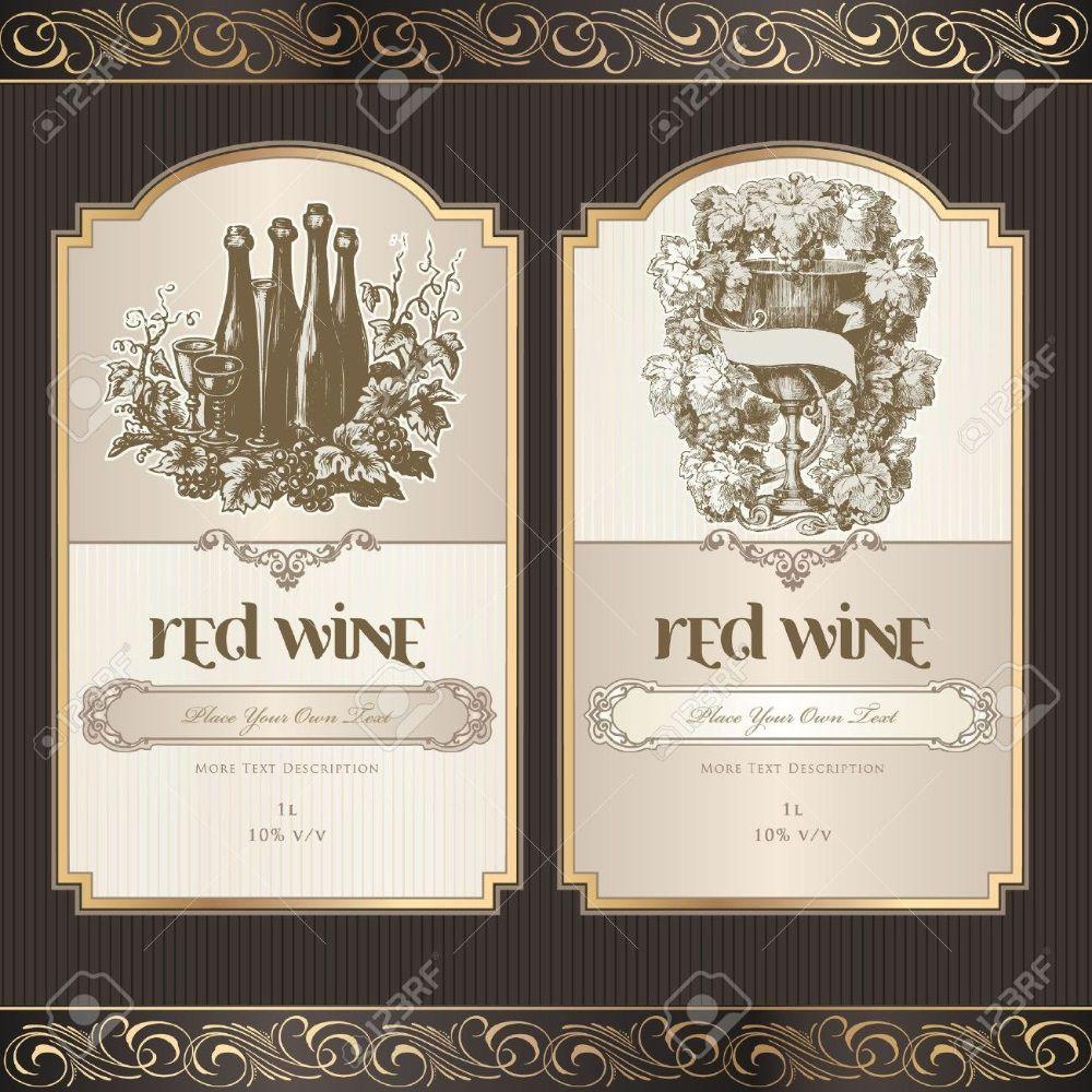 001 Striking Free Wine Bottle Label Template Idea  Mini PrintableFull