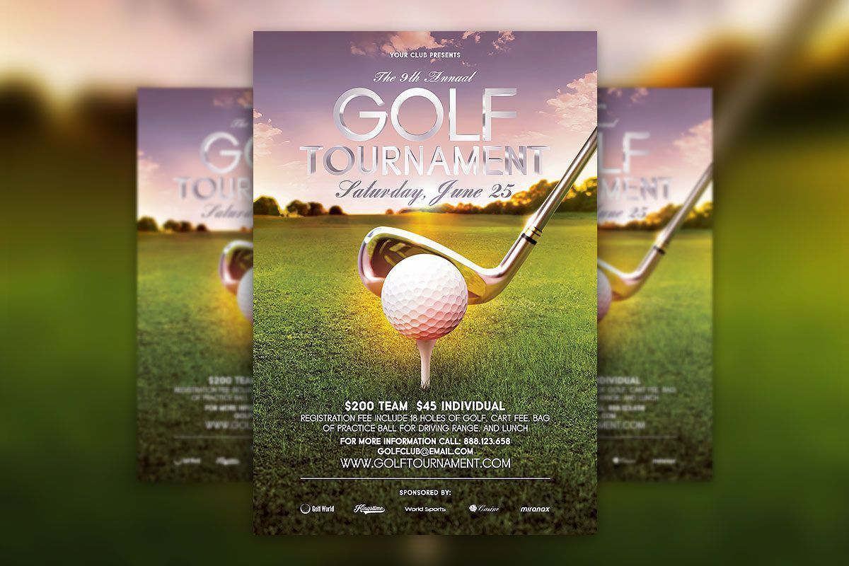 001 Striking Golf Tournament Flyer Template Highest Clarity  Word Free PdfFull