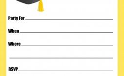 001 Striking Graduation Party Invitation Template Idea  Microsoft Word 4 Per Page