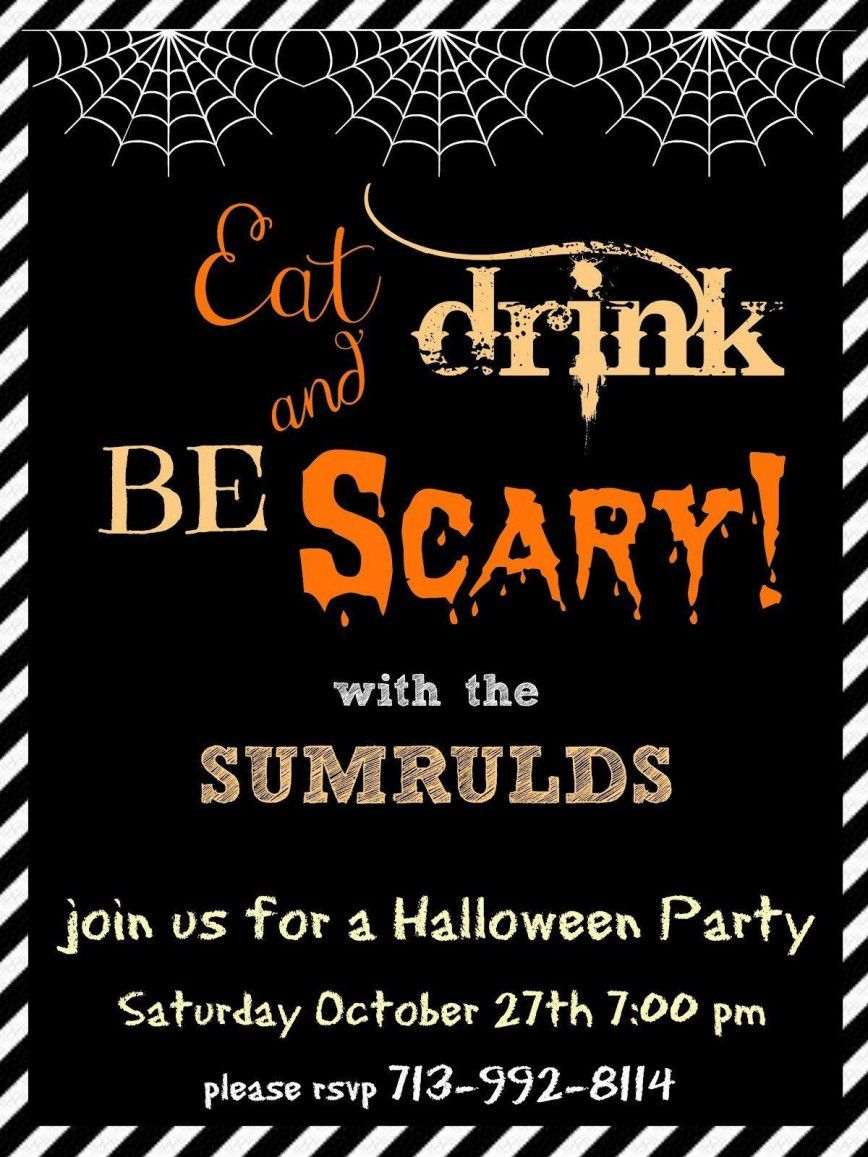 001 Striking Halloween Party Invitation Template Image  Microsoft Block OctoberFull