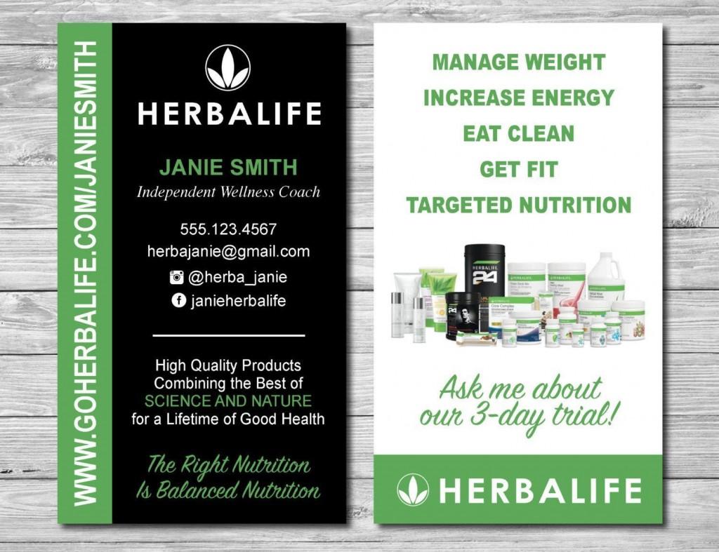 001 Striking Herbalife Busines Card Template High Resolution  Download FreeLarge