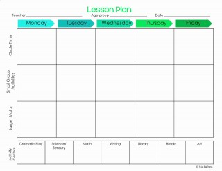 001 Striking Lesson Plan Template For Preschool Design  Format Teacher Free Printable320
