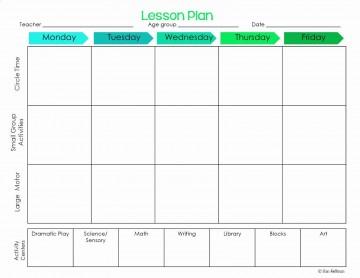 001 Striking Lesson Plan Template For Preschool Design  Format Teacher Free Printable360