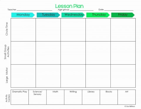 001 Striking Lesson Plan Template For Preschool Design  Format Teacher Free Printable480