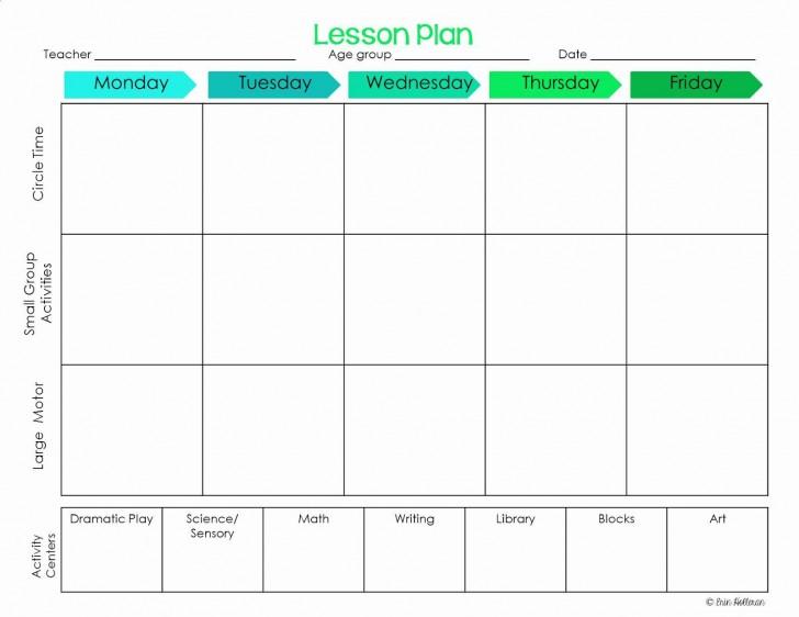 001 Striking Lesson Plan Template For Preschool Design  Format Teacher Free Printable728