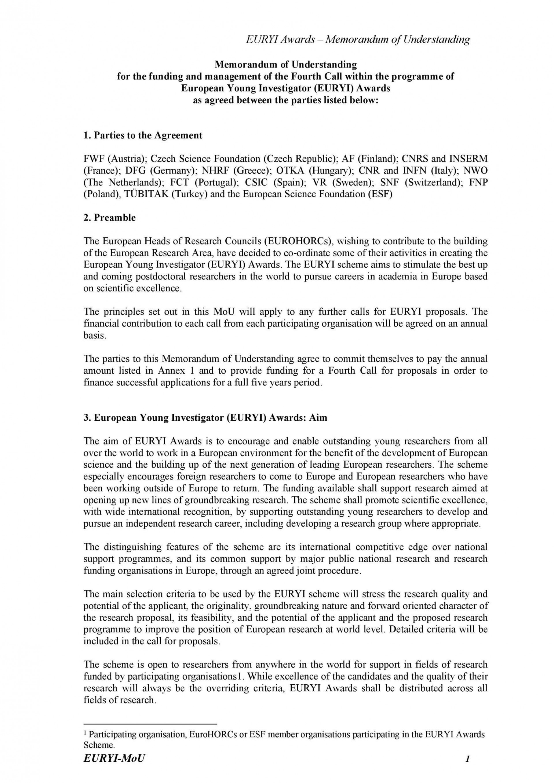 001 Striking Letter Of Mutual Understanding Template Example 1920