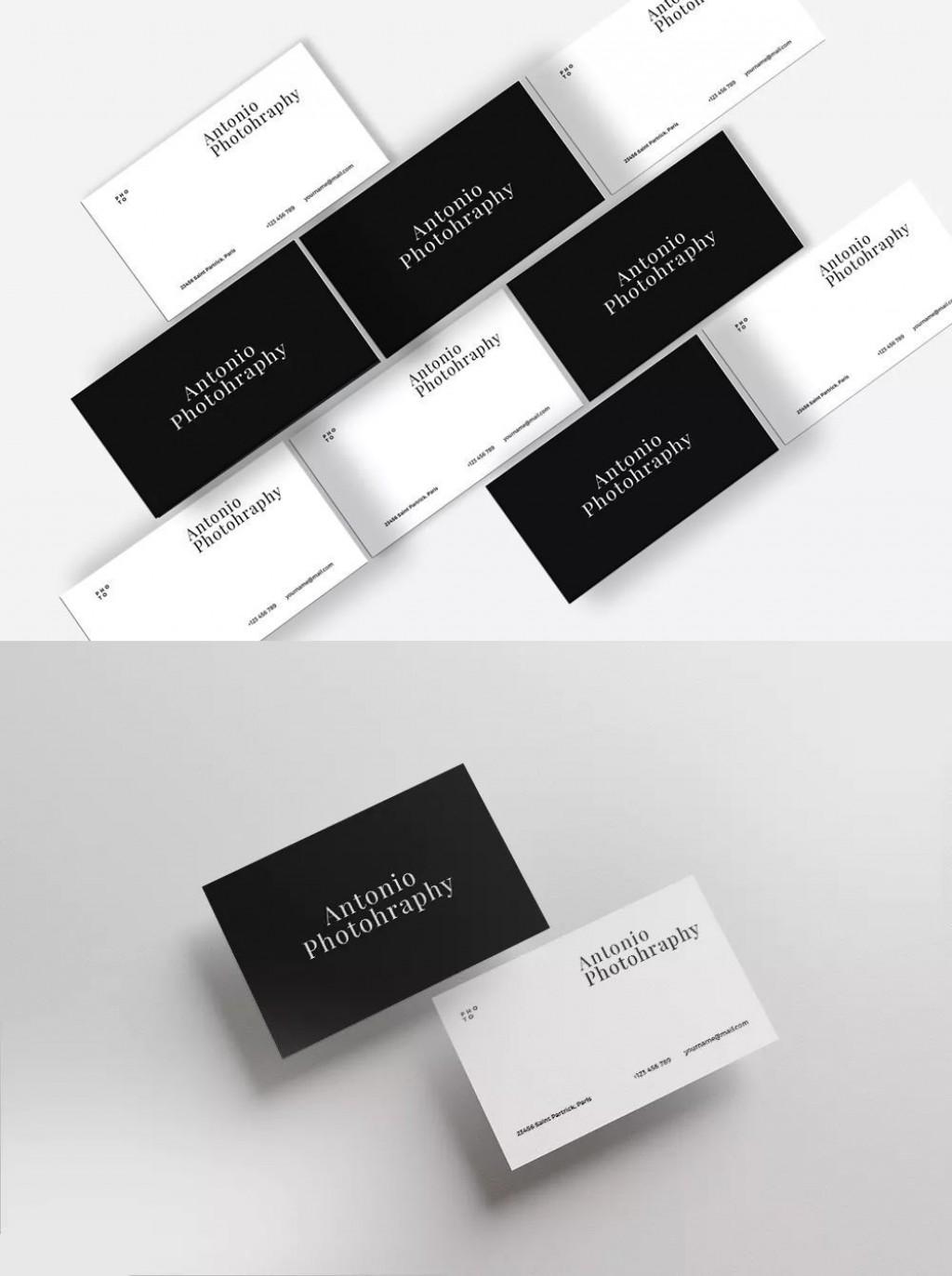 001 Striking Minimalist Busines Card Template Psd High Resolution Large