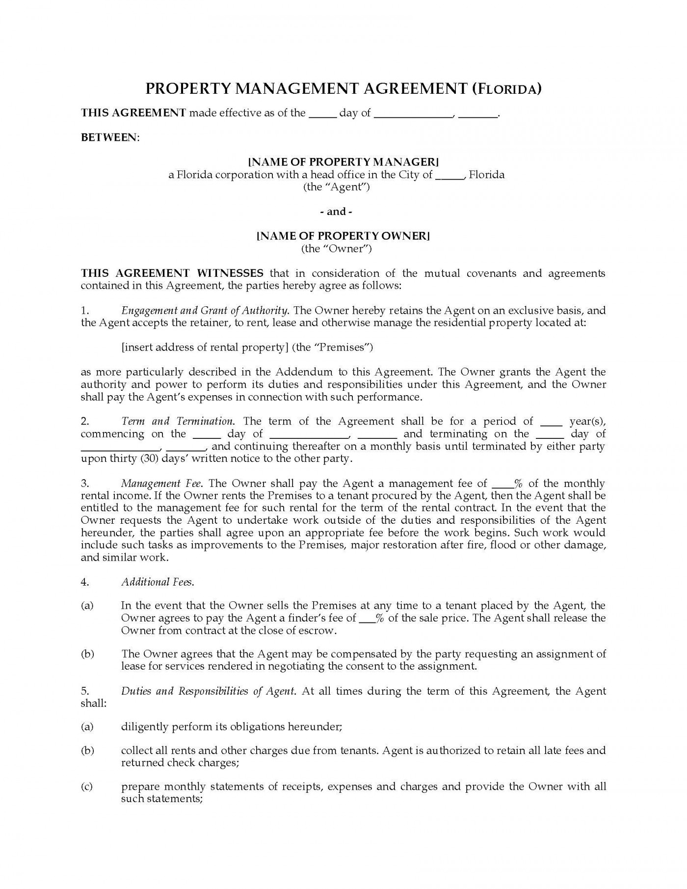 001 Striking Property Management Contract Sample Inspiration  Agreement Template Pdf Company Free Uk1400