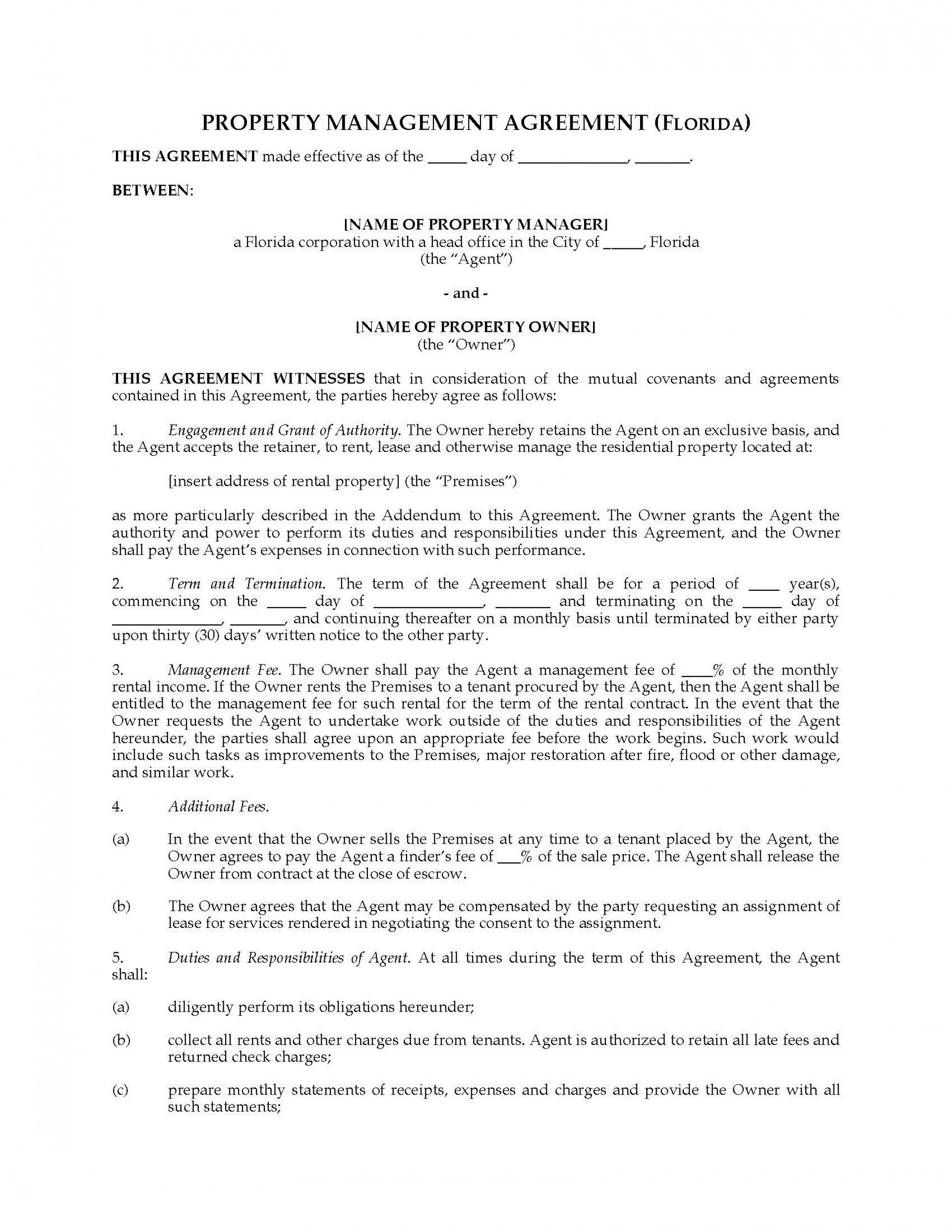 001 Striking Property Management Contract Sample Inspiration  Philippine Agreement Template Pdf Commercial1920