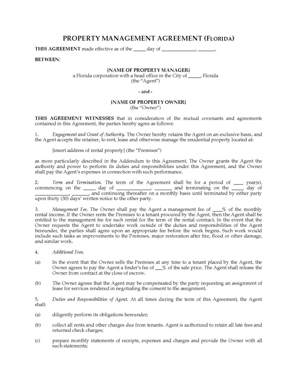 001 Striking Property Management Contract Sample Inspiration  Agreement Template Pdf Company Free Uk960