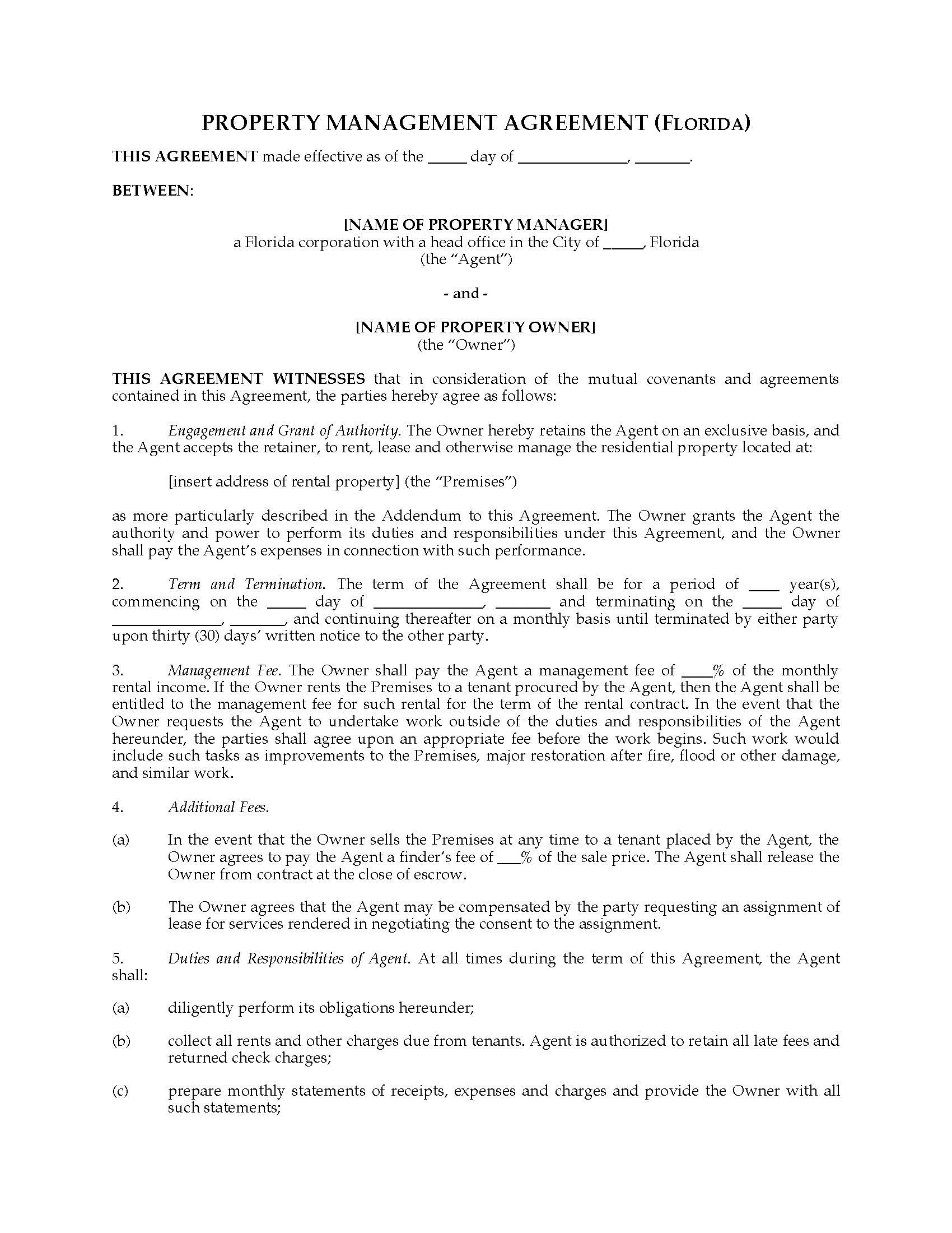 001 Striking Property Management Contract Sample Inspiration  Philippine Agreement Template Pdf CommercialFull