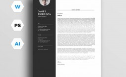 001 Striking Resume Cover Letter Template Docx Example
