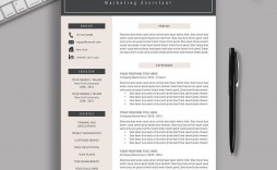 001 Striking Resume Template M Word 2019 Picture  Microsoft Free