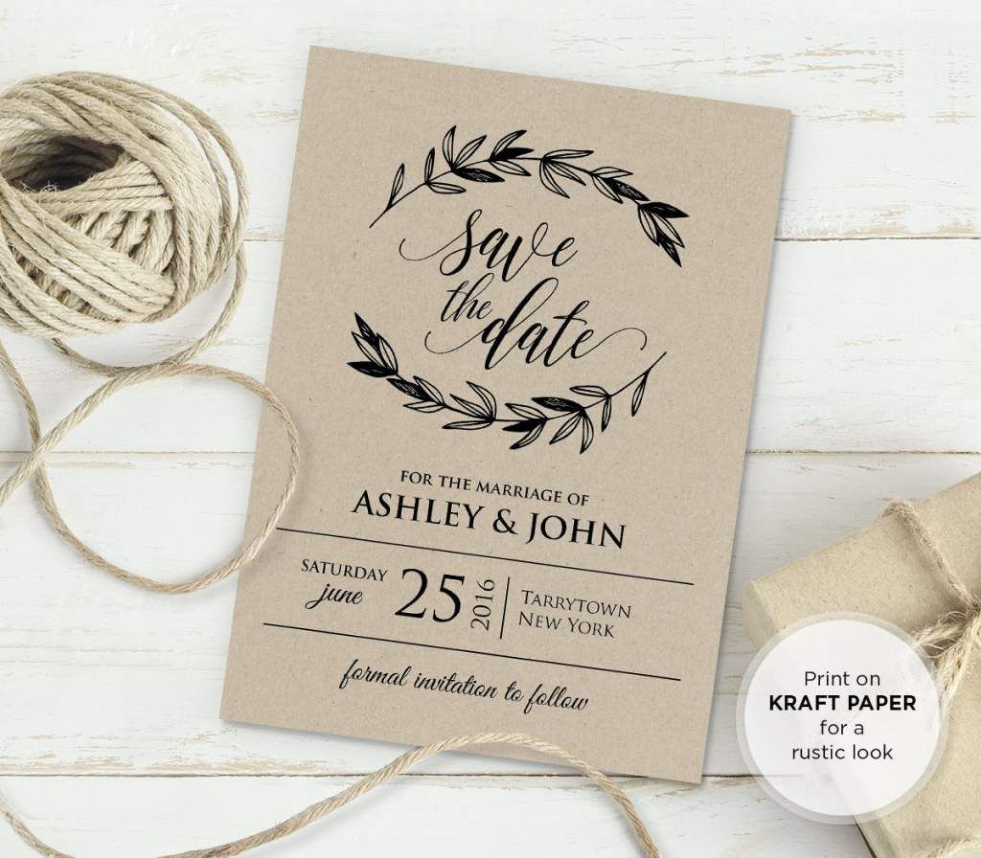001 Striking Rustic Wedding Invitation Template Inspiration  Templates Free For Word Maker Photoshop1920