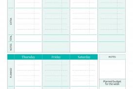 001 Striking Simple Weekly Budget Template Idea  Planner Personal Printable