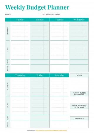 001 Striking Simple Weekly Budget Template Idea  Planner Personal Printable320