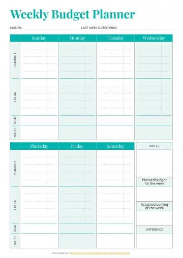 001 Striking Simple Weekly Budget Template Idea  Planner Personal Printable360