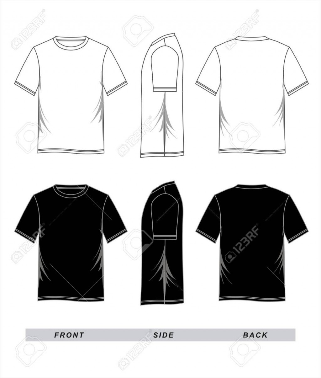 001 Striking T Shirt Template Vector Image  Black Front And Back Free Download IllustratorLarge