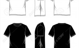 001 Striking T Shirt Template Vector Image  Black Front And Back Free Download Illustrator