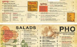 001 Striking To Go Menu Template Highest Clarity  Tri Fold Word Indesign Restaurant