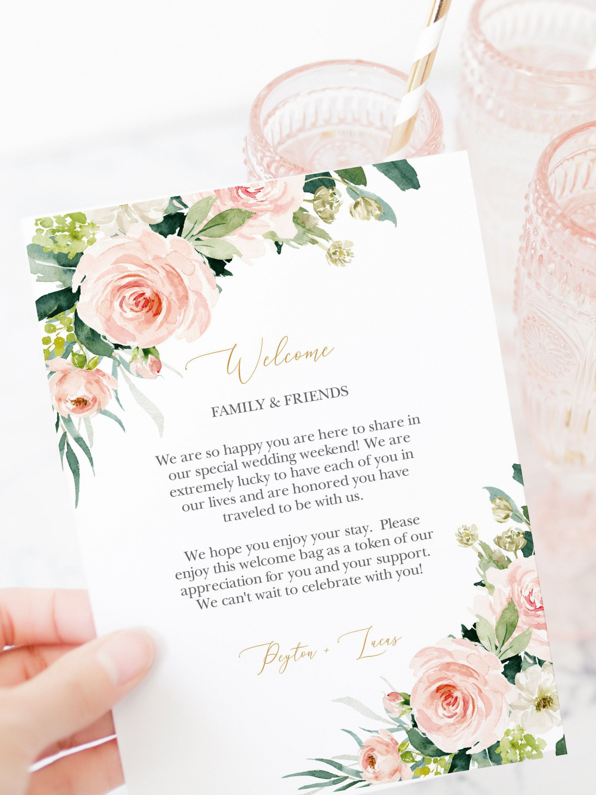 001 Striking Wedding Welcome Letter Template Download Example 1920