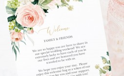 001 Striking Wedding Welcome Letter Template Download Example