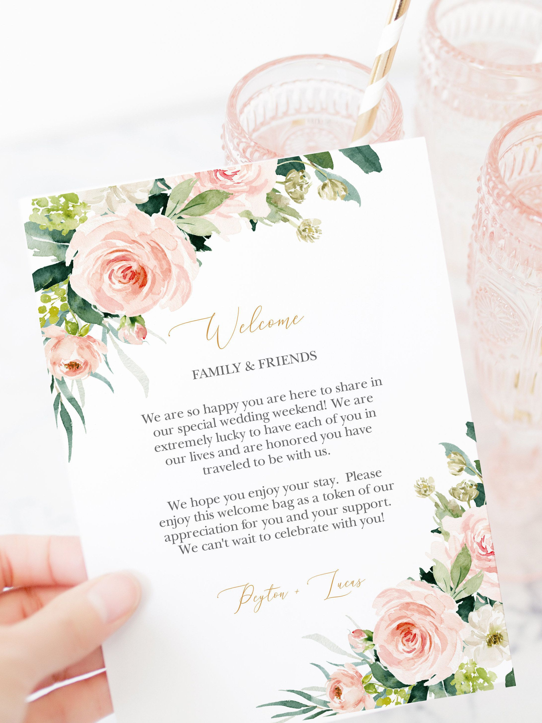 001 Striking Wedding Welcome Letter Template Download Example Full