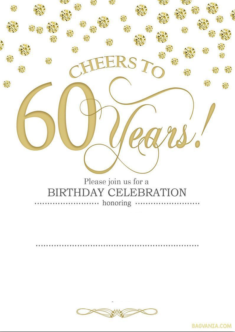 001 Stunning 60 Birthday Invite Template High Resolution  Templates 60th Printable FreeFull