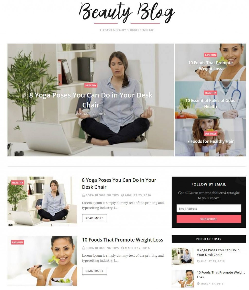 001 Stunning Best Free Responsive Blogger Template 2019 Image Large