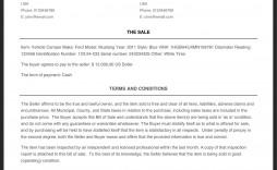 001 Stunning Bill Of Sale Template Pdf Inspiration  Free Used Car Ontario Sample