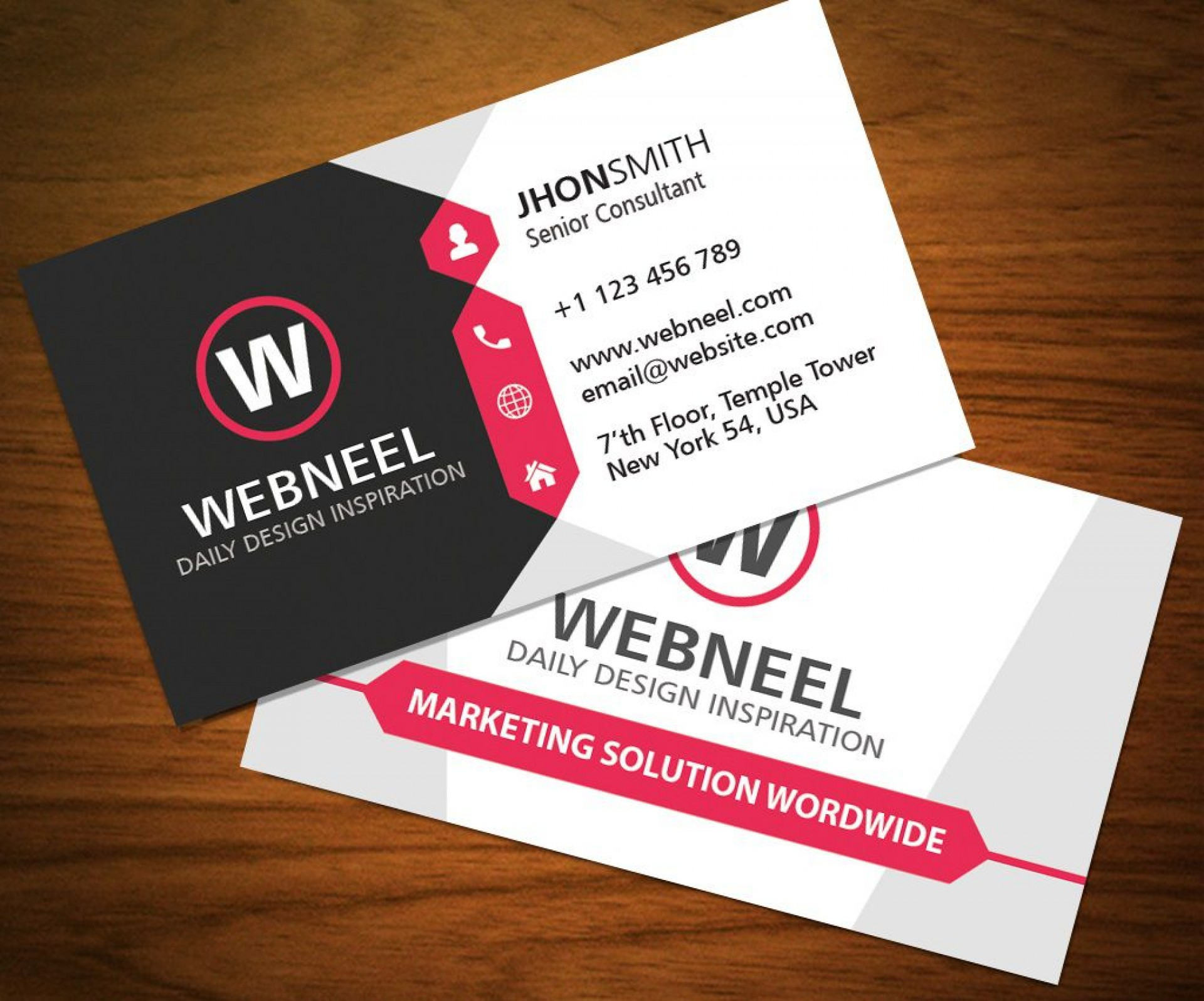001 Stunning Busines Card Template Free Download Sample  Psd File Pdf Ppt1920