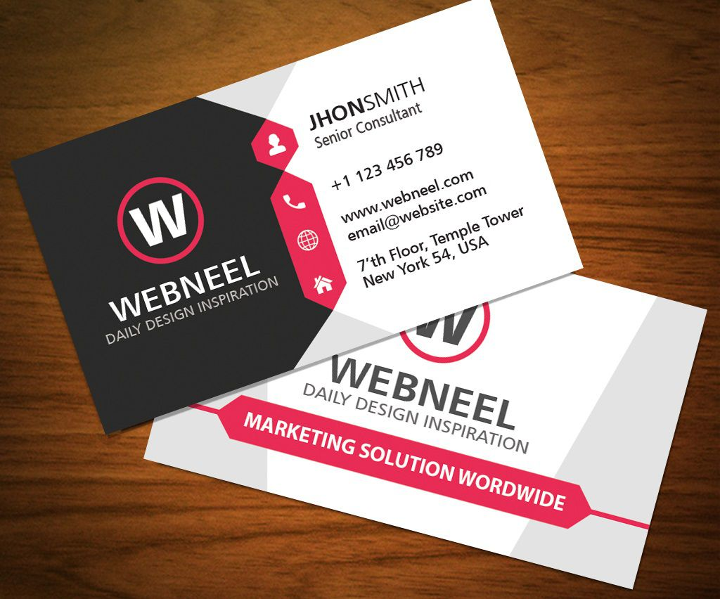 001 Stunning Busines Card Template Free Download Sample  Psd File Pdf PptFull