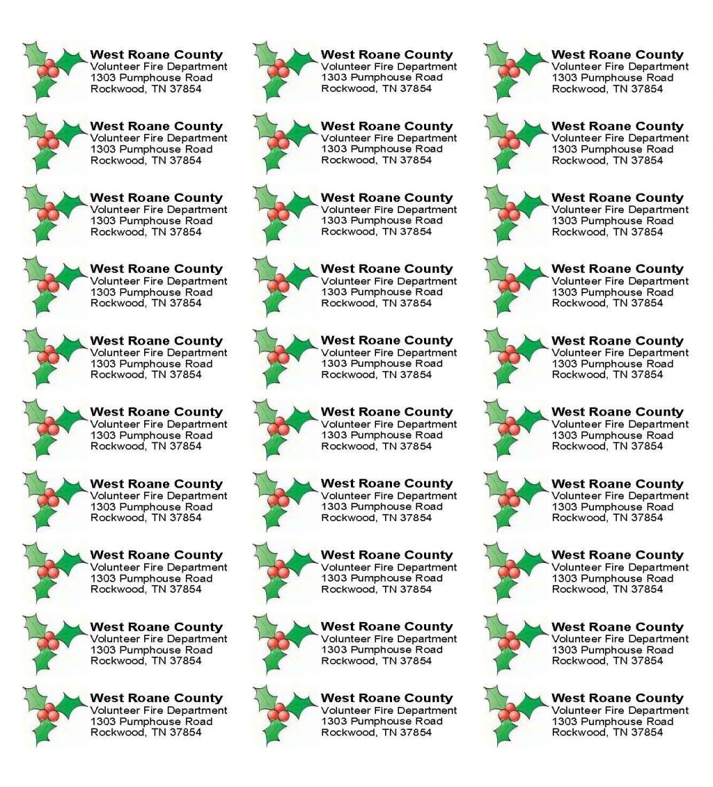 001 Stunning Christma Addres Label Template Sample  Free Download Shipping CardLarge