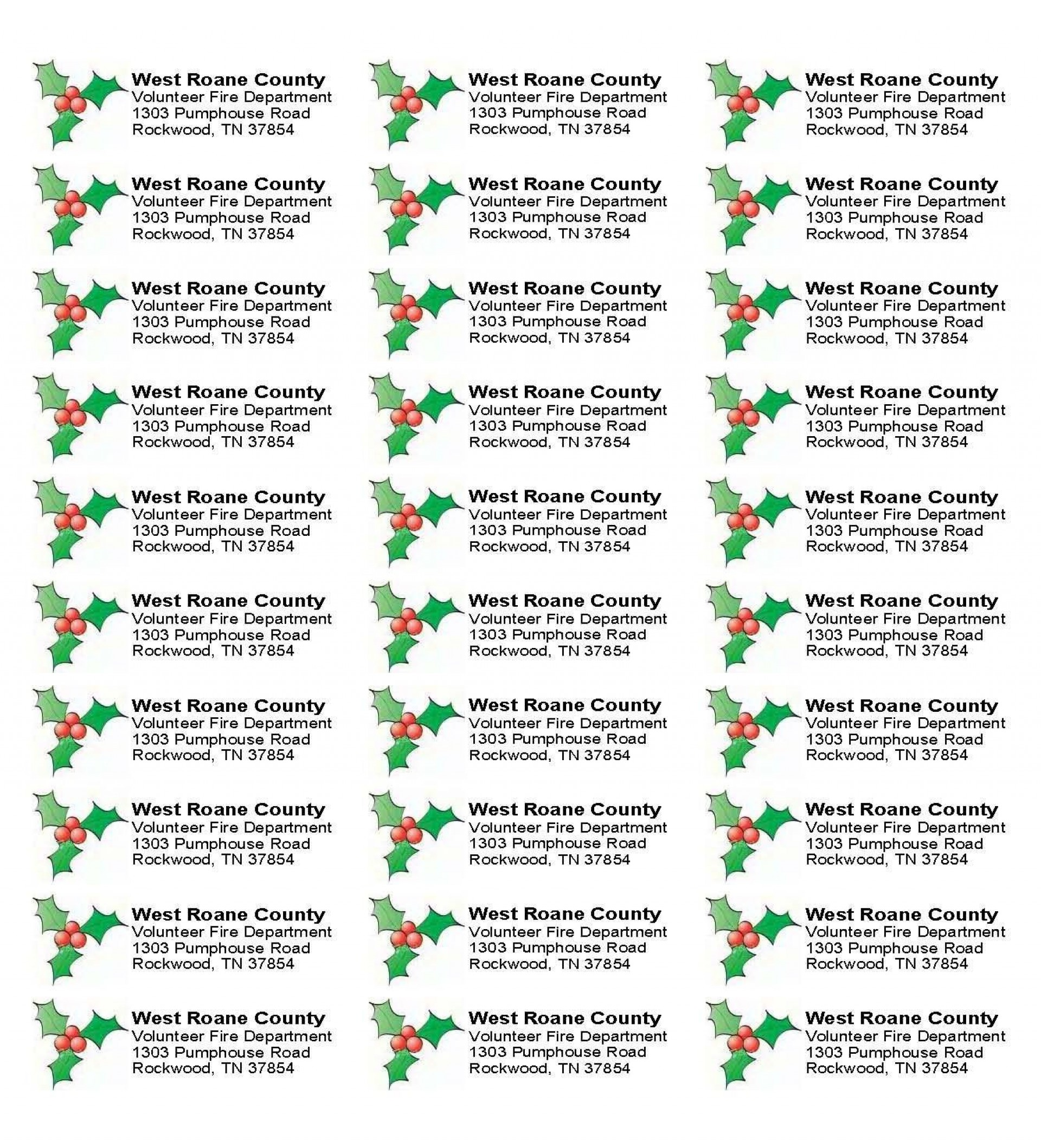 001 Stunning Christma Addres Label Template Sample  Free Download Shipping Card1920