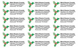 001 Stunning Christma Addres Label Template Sample  Free Download Shipping Card