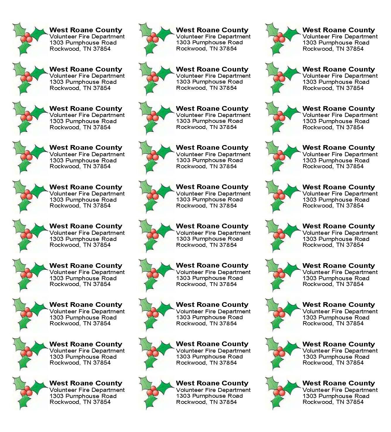 001 Stunning Christma Addres Label Template Sample  Free Download Shipping CardFull